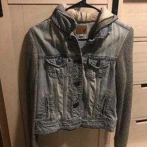American Eagle Jean/Sweatshirt Jacket